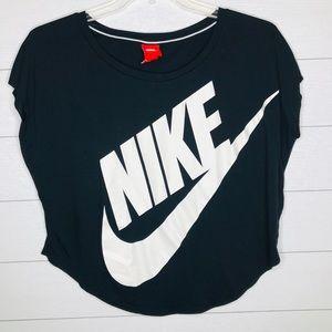 Nike Women's Logo Boxy Tee Black Size Medium
